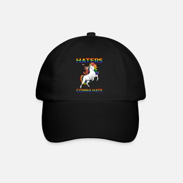 Equalizer LGBT Gay Pride Red Panda Riding Unicorn Haters - Baseball Cap
