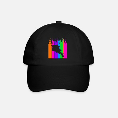 World Armenia Colored bubbles and bubbles - Baseball Cap