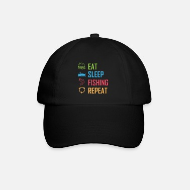Eat Sleep Fish Repeat Eat Sleep Fishing Repeat - Baseball Cap