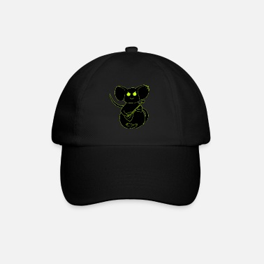 angry rock mouse neon - Baseball Cap