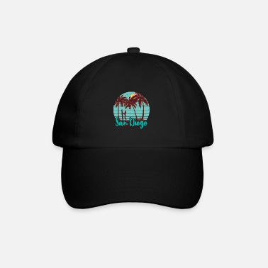 San Diego Beach Surf Girl - Baseball Cap