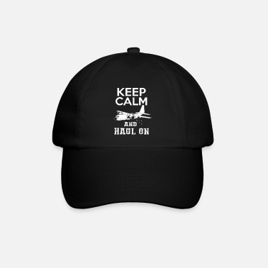 Transport Keep Calm transport plane aviator gift - Baseball Cap