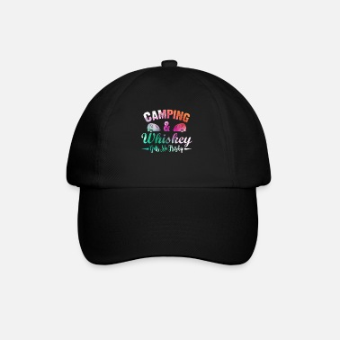 Camping And Whiskey Gets Me Frisky Funny Girls - Baseball Cap
