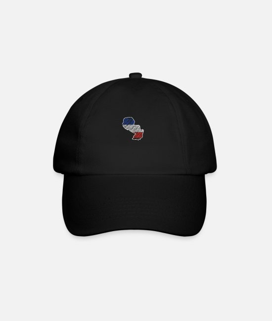 South America Caps & Hats - Paraguay South America Tshirt - Baseball Cap black/black