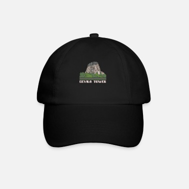 Gebäude Devils Tower Shirt Nationales Denkmal Natur Souven - Baseball Cap