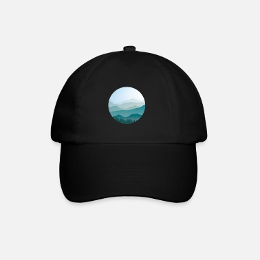 Landscape in cartoon style - landscape - Baseball Cap