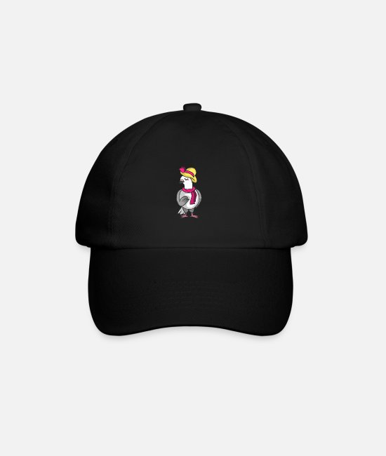 For Children Caps & Hats - Dove peace faithful white gray bird love - Baseball Cap black/black