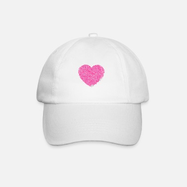 Nice Shape Heart shape of loving, warm and nice words cloud - Baseball Cap
