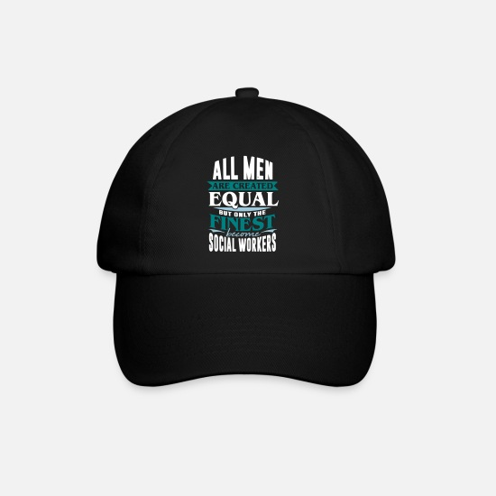 Group Caps & Hats - social worker social pedagogue socialist - Baseball Cap black/black