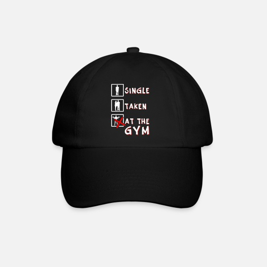 Bulk Up Caps & Hats - At The Gym - Baseball Cap black/black
