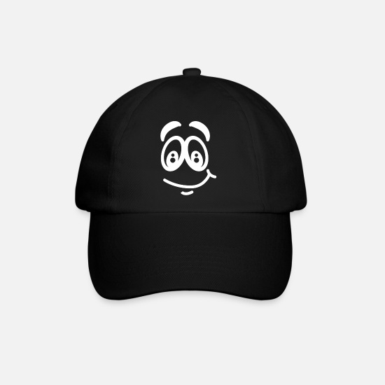Gift Idea Caps & Hats - Eyes Comic Facial Expression Laugh Funny Kids - Baseball Cap black/black