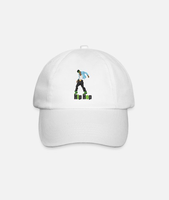Bboy Caps & Hats - hip hop - Baseball Cap white/white