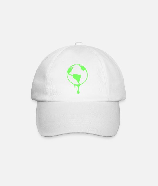 Earth Caps & Hats - Earth Earth globe - Baseball Cap white/white