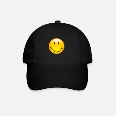 Emoticon Smiley Glossy Happy - Baseball keps