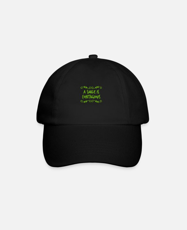 English Caps & Hats - infect others with your laughter - Baseball Cap black/black
