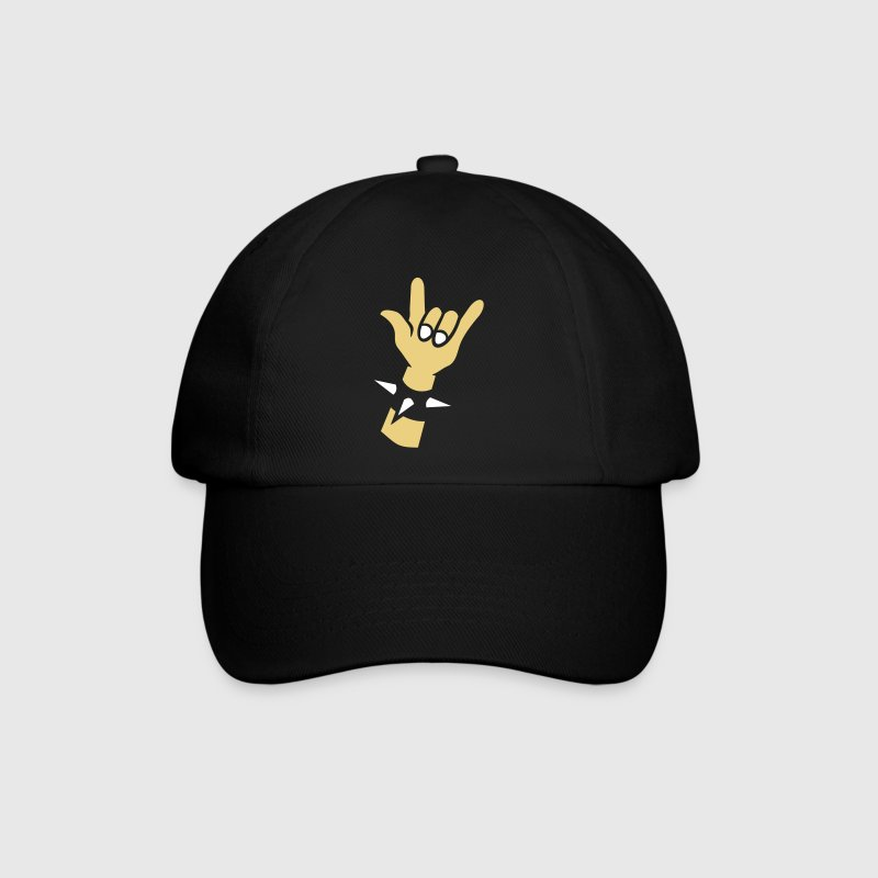 Rocking Hands for black shirts Devil horns  - Cappello con visiera