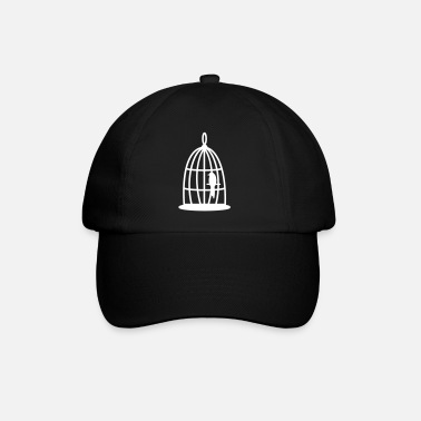 Cage Bird in the cage - Baseball Cap