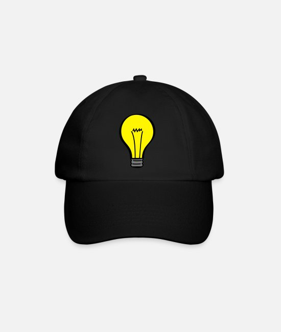 Genius Caps & Hats - light bulb - Baseball Cap black/black