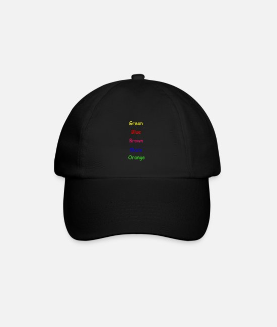 Stoner Caps & Hats - Colors Colorful - Baseball Cap black/black