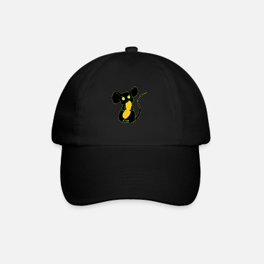 angry mouse eating neon - Baseball Cap