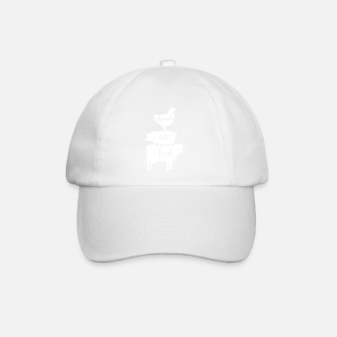 Friends Vegan Friends Not Food- Chicken, pig and cow Gifts - Baseball Cap