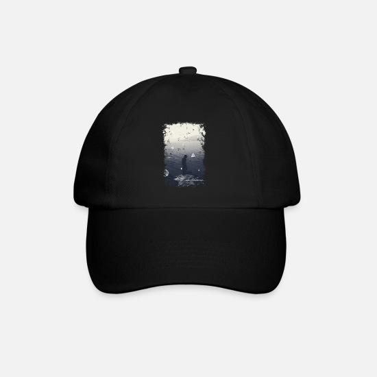 Illustration Caps & Hats - Ocean - Baseball Cap black/black