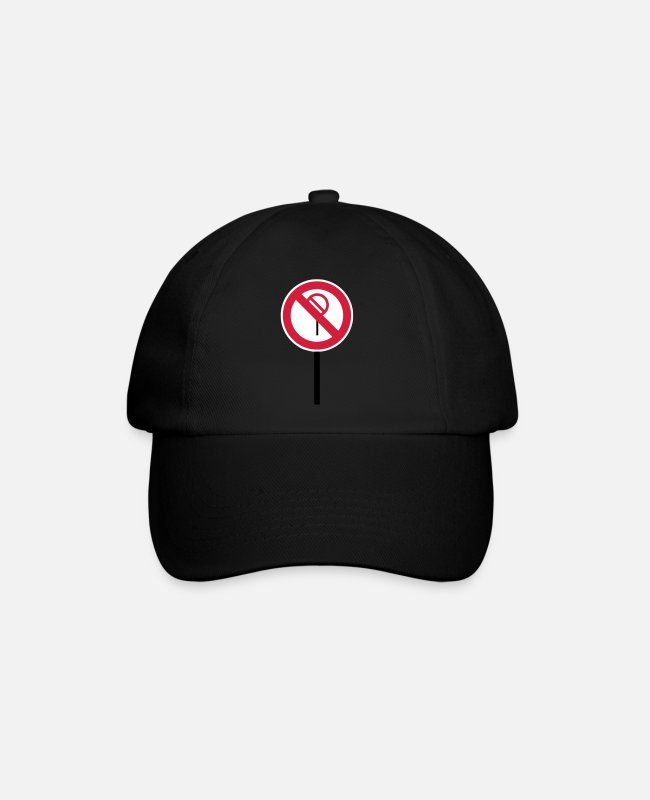 "Red Caps & Hats - Sign ""Prohibitions prohibited"" - Baseball Cap black/black"
