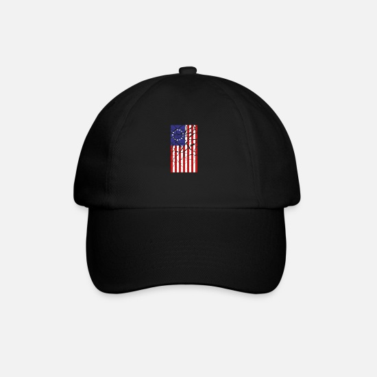 Patriot Caps & Hats - Betsy Ross flag - Baseball Cap black/black