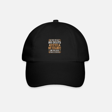 Car Meme Diesel Design Quote Created Diesel Mechanic - Baseball Cap