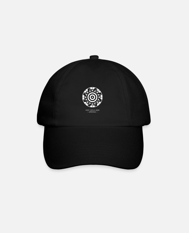 Alien Caps & Hats - Kornkreis 2020 Ammersee crop circle alien spirit - Baseball Cap black/black