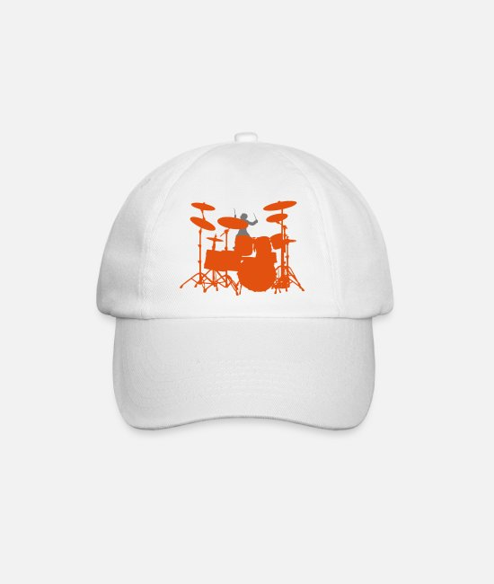 Drummer Caps & Hats - Drums - Baseball Cap white/white