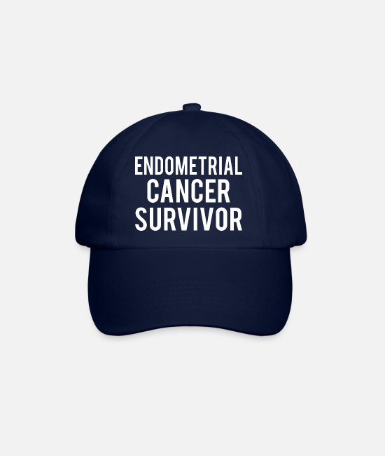 Ribbons Caps & Hats - Endometrial Cancer: Endometrial Cancer Survivor - Baseball Cap blue/blue