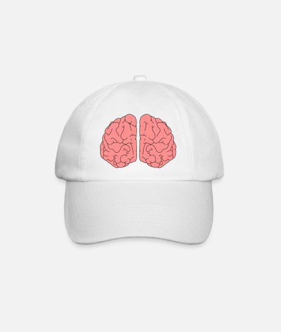 Brain Caps & Hats - Brain - Baseball Cap white/white