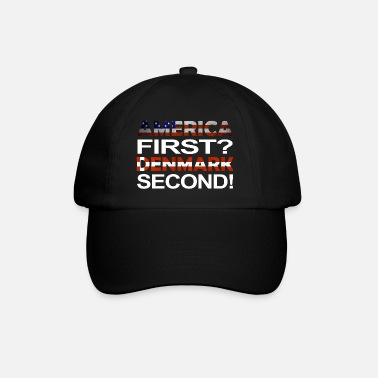 Trump Denmark America first Denmark second - Baseball Cap