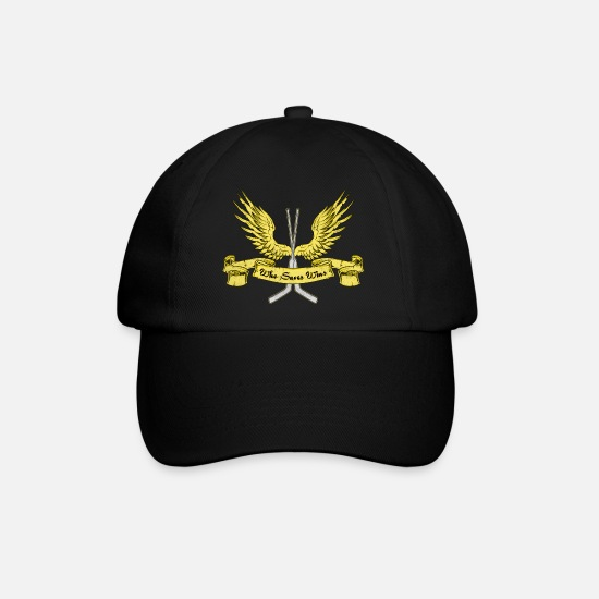 Hockey Caps & Hats - Who Saves Wins, Hockey Goalie - Baseball Cap black/black