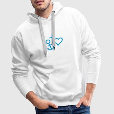 hope love faith believe 3 - Männer Premium Hoodie
