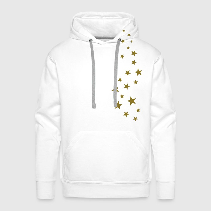Gold stars, Christmas, fairy dust, magic, fantasy - Men's Premium Hoodie