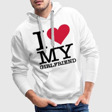 I Love My Girlfriend - Bluza męska Premium z kapturem