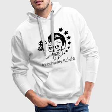 Rockabilly Rebel - Sweat-shirt à capuche Premium pour hommes