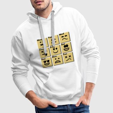 everyday emoticons - Mannen Premium hoodie