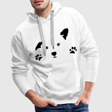 dog, puppy, dog face - Sweat-shirt à capuche Premium pour hommes