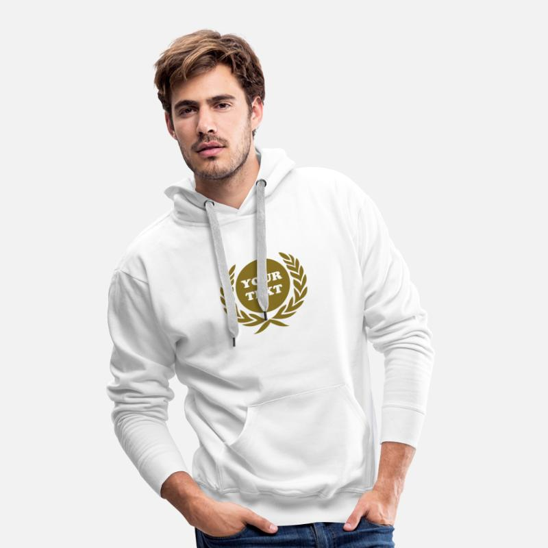 5 Star Hero Hoodies & Sweatshirts - Laurel wreath, Award, Best, hero, winner, badge - Men's Premium Hoodie white