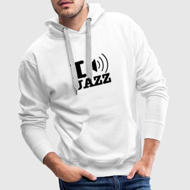 I love jazz / I music jazz - Sweat-shirt à capuche Premium pour hommes