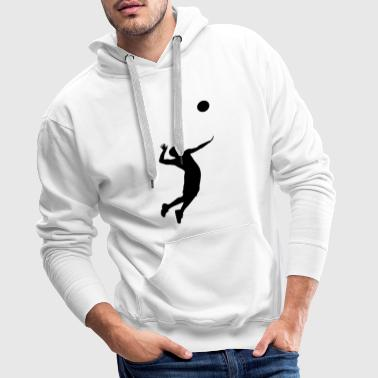 Volleyball, Volleyball Player - Sweat-shirt à capuche Premium pour hommes