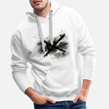 Death Descending Chaos Flower Cloud Logo Color - Men's Premium Hoodie