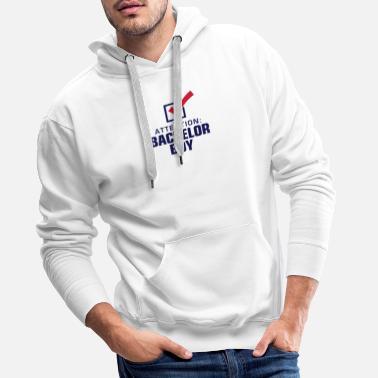 fdfc48a67e573 Baccalauréat Attention  baccalauréat! - Sweat-shirt à capuche Premium pour  hommes