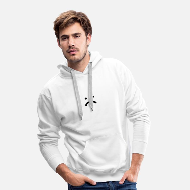 Mode Hoodies & Sweatshirts - Sad face - Men's Premium Hoodie white