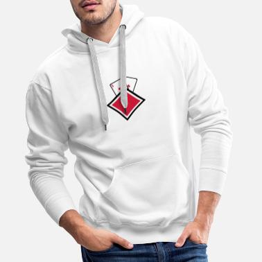 Carreaux carreau paire as24 poker - Sweat-shirt à capuche Premium pour hommes