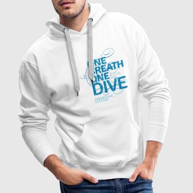 One Breath One Dive - Freediving Culture - Männer Premium Hoodie
