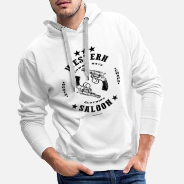 Rodeo Western saloon design - Men's Premium Hoodie